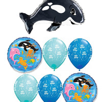 Orca Whale Birthday Balloon Bouquet 3