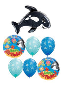 Orca Whale Birthday Balloon Bouquet 2