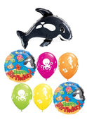 Orca Whale Birthday Balloon Bouquet 1