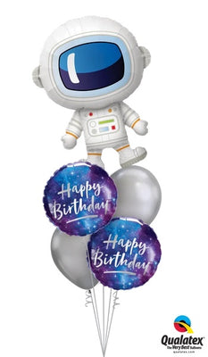 Outer Space Astronaut Birthday Galaxy Balloon Bouquet