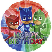 PJ Masks Happy Birthday 18 inch Foil Balloons