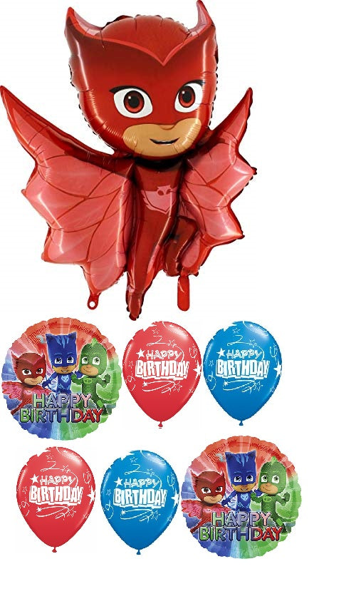 PJ Masks Owlette Birthday Balloon Bouquet 2