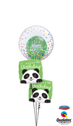 Panda Bubbles Birthday Balloon Bouquet