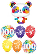 Panda Rainbow 100 Days Balloons Bouquet