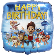 Paw Patrol Happy Birthday 18 inch Foil Balloon
