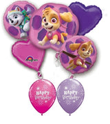 Paw Patrol Skye and Everest Birthday Balloon Bouquet