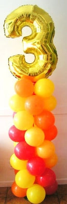 Pick An Age Number Balloon Column