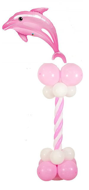 Sea Creatures Pink Dolphin Balloon Column 3