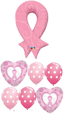 Cancer Awareness Pink Ribbon Balloon Bouquet 3