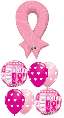Cancer Awareness Pink Ribbon Balloon Bouquet 4