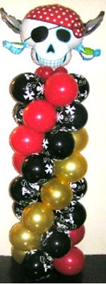 Pirate Skulls Balloon Column 2