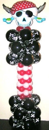 Pirate Skulls Balloon Column 3