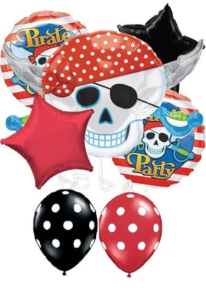 Pirate Skull Birthday Party Balloon Bouquet 10