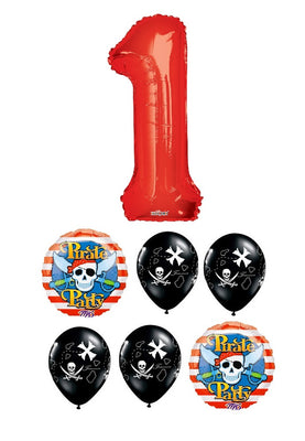Pirate Pick an Age Red Balloon Number Bouquet 1