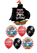 Pirate Ship Birthday Party Balloon Bouquet 6