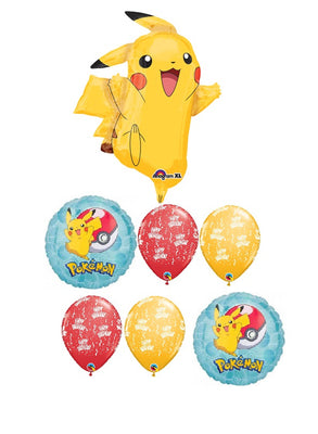 Pokemon Pikachu Birthday Balloon Bouquet