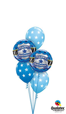Police Badge Birthday Balloon Bouquet