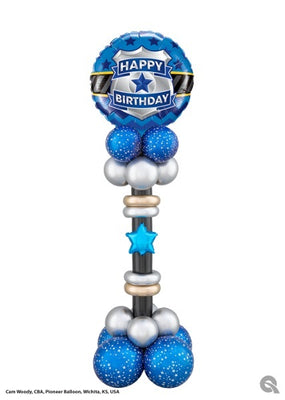 Police Birthday Balloon Stand Up