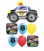 Police Car Birthday Balloon Bouquet