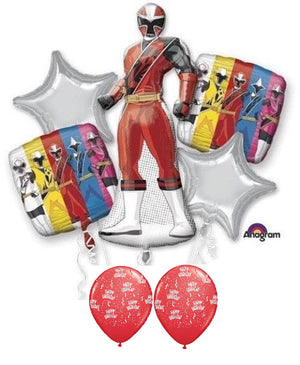 Power Rangers Ninja Steel Birthday Balloon Bouquet
