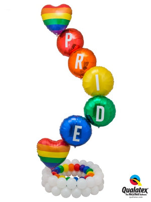 Pride Rainbow Balloon Stand Up