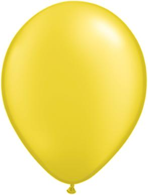 11 inch Pearl Citrine Yellow Helium Balloon  (Hi-Float 3 Days)