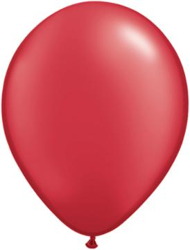 11 inch Pearl Ruby Red Helium Balloon (Hi-Float 3 Days)