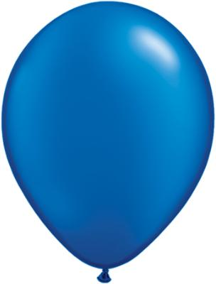 11 inch Pearl Sapphire Blue Helium Balloon (Hi-Float 3 Days)