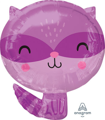 Woodland Critters Raccoon Animal Shape Junior 18 inch Foil Balloons