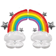 Rainbow 52 inch Airloonz Balloons Double