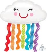 Rainbow Cloud Smile 30 inch Foil Balloons
