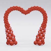Red Heart Balloon Arch