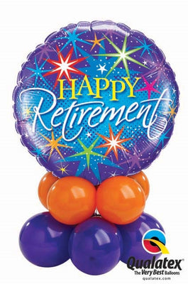 Retirement Table Balloon Centerpiece