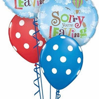 Goodbye Sorry You Are Leaving Polka Dots Balloon Bouquet