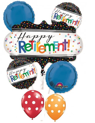 Retirement Dots Balloon Bouquet