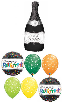 Retirement Champagne Dots Stars Balloon Bouquet