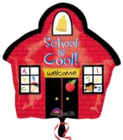School House 18 inch Shape Foil Balloons