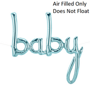 Script Pale Blue Baby (Air Filled Only)