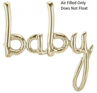 Script White Gold Baby (Air Filled Only)