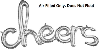 Script Silver Cheers  (Air Filled Only)