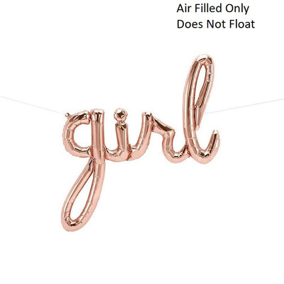 Script Rose Gold Girl (Air Filled Only)