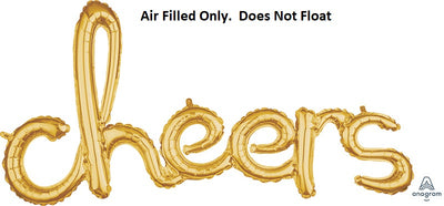 Script Gold Cheers  (Air Filled Only)