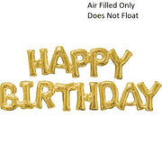 Script Gold Happy Birthday (Air Filled Only)