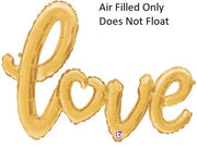 Script Gold Love (Air Filled Only)
