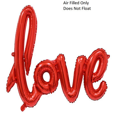 Script Red Love (Air Filled Only)
