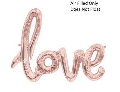 Script Rose Gold Love (Air Filled Only)