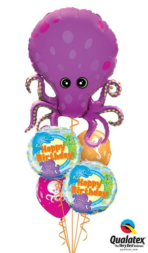 Sea Creatures Octopus Birthday Balloon Bouquet 18