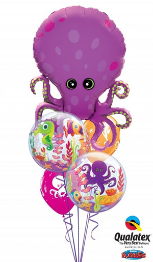 Sea Creatures Octopus Bubbles Balloon Bouquet 20