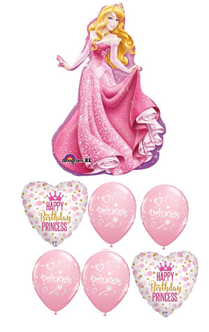 Sleeping Beauty Aurora Birthday Balloon Bouquet 4