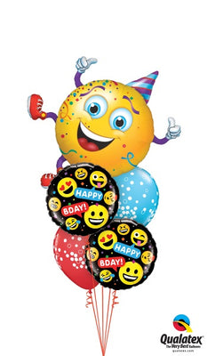 Emoticon Emoji Party Guy Birthday Balloon Bouquet